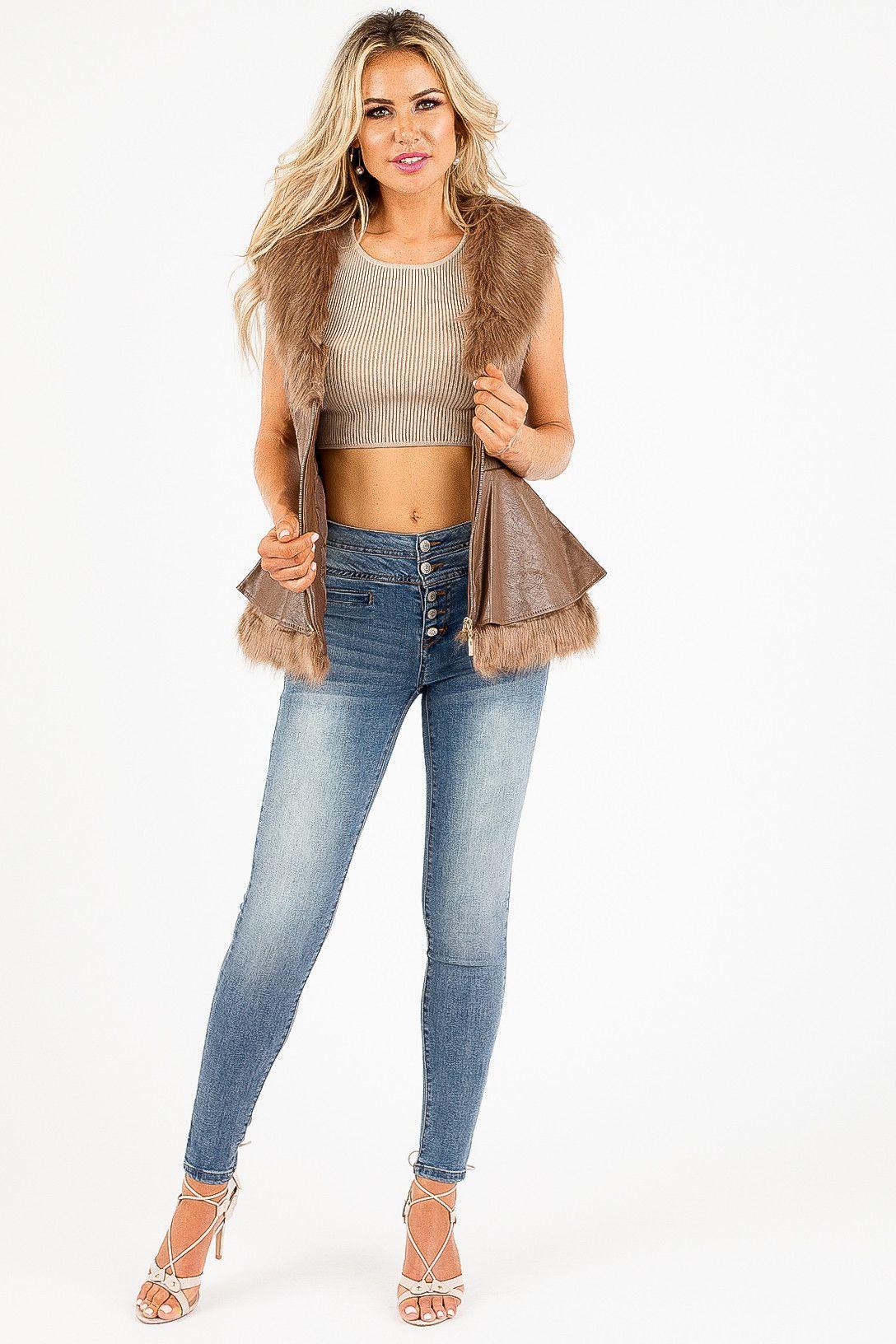 Dark Brown and Fur Desiree Jacket
