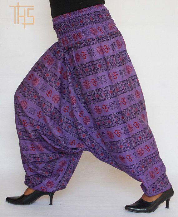 Women OM Harem Pants Yoga Pants Aladdin Pants