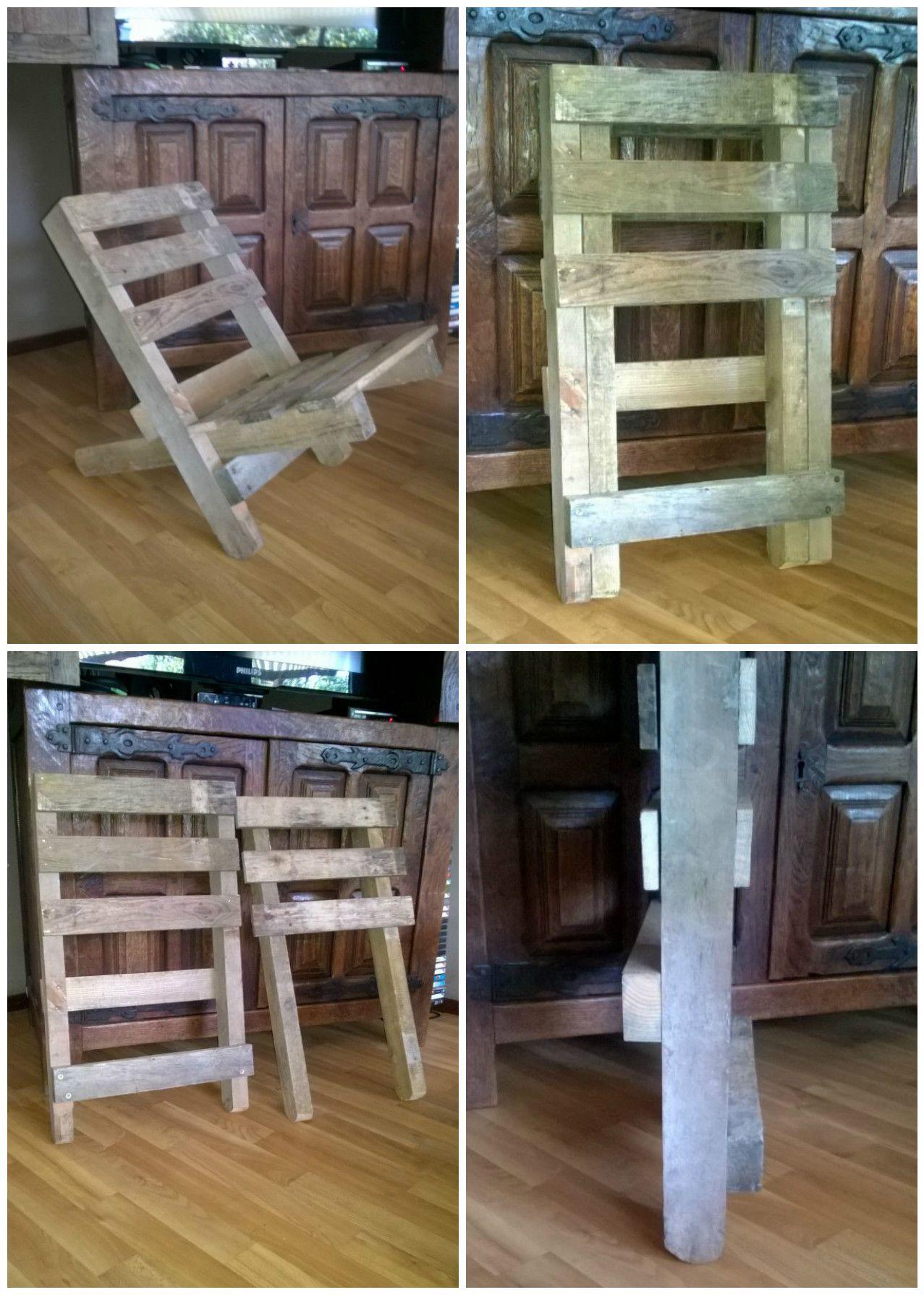 Chaise Emboitable En Palette Stackable Pallet Chair 1001 Pallets Pallet Chair Bar Chairs Diy Pallet House