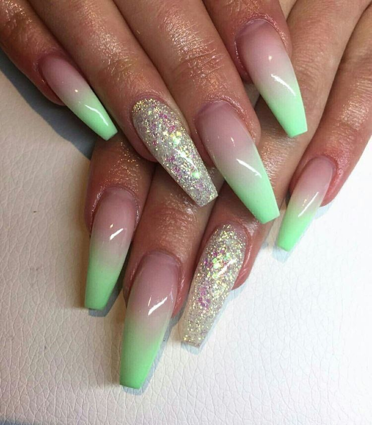 Iced Key Lime Ombre Nails Nail Designs Unique Nails
