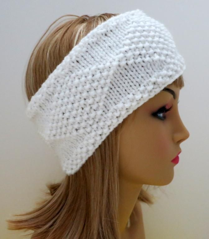 Diamonds In The Snow Headband Ear Warmer Knit Patterns Ear