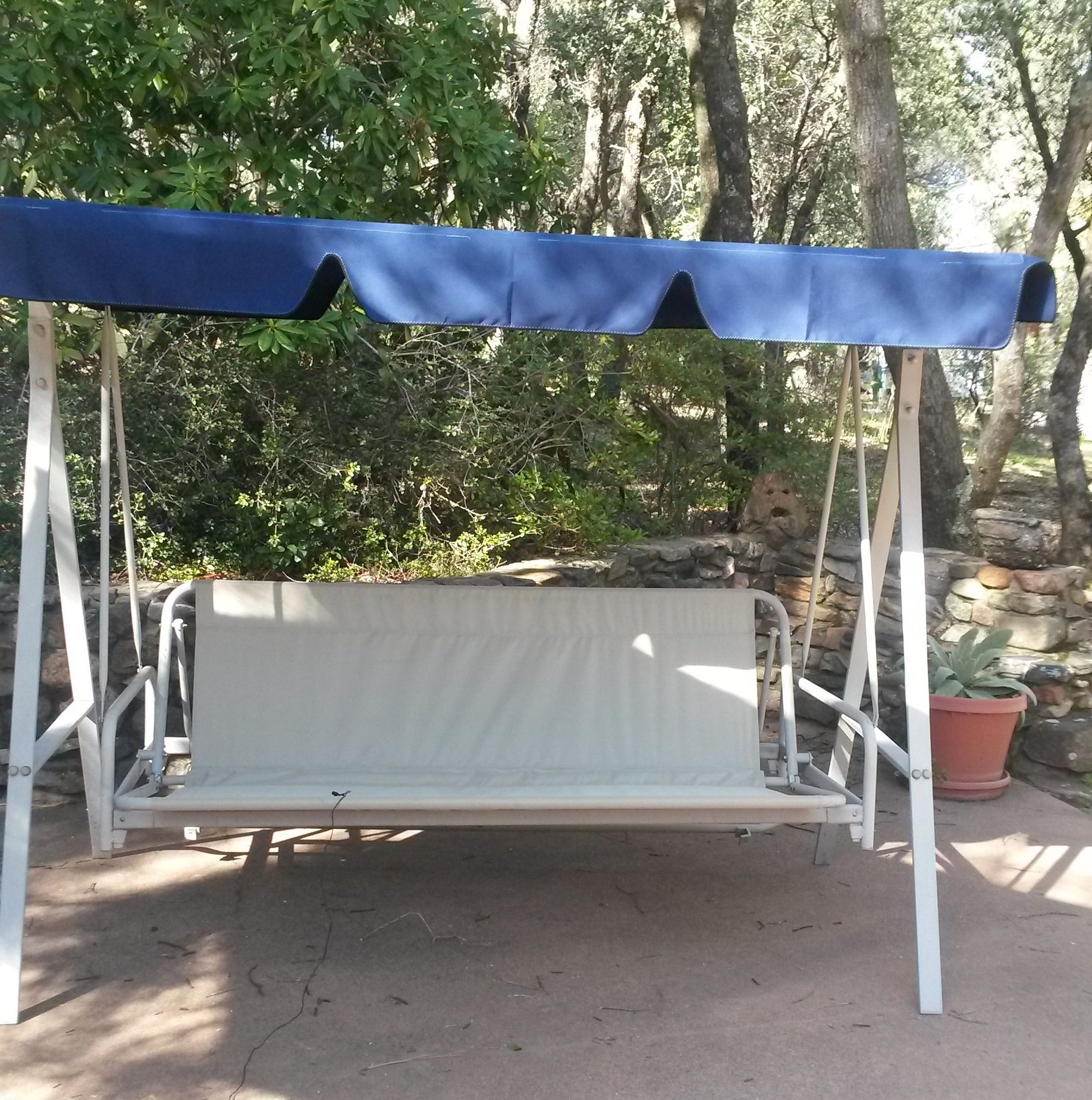Swing Chair Replacement Blood Draw Patio Sling For Seat Lowes Canopy