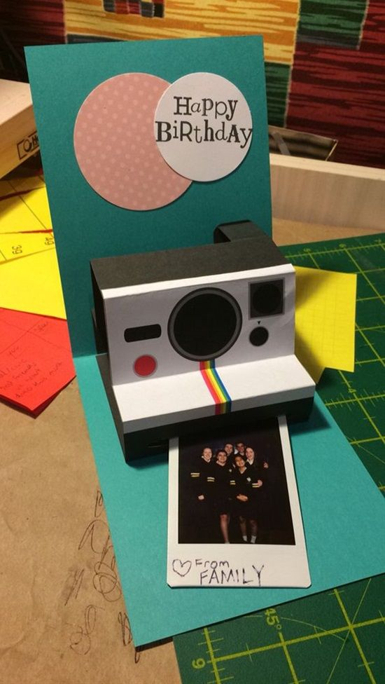 Polaroid Camera Birthday Card