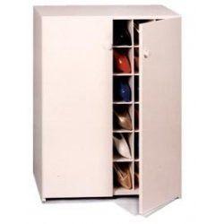 Shoe Cubby Women S 40 Pair With Doors White 32 3 4 H X 33 1 2 W 14 D
