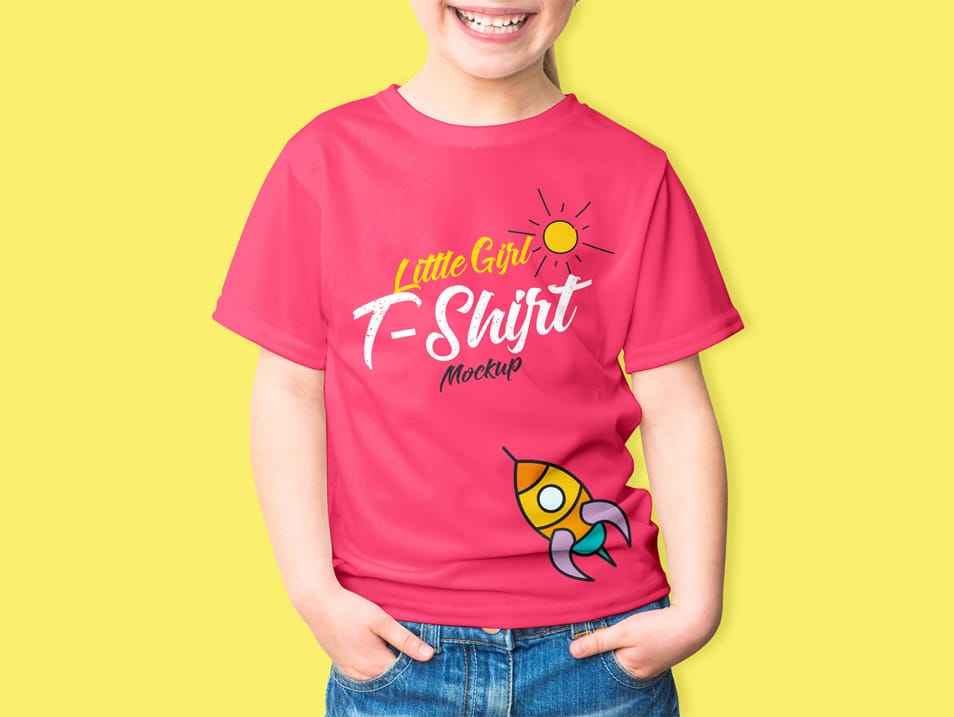 Download Free Little Girl T Shirt Mockup Psd Shirt Mockup Girls Tshirts Tshirt Mockup