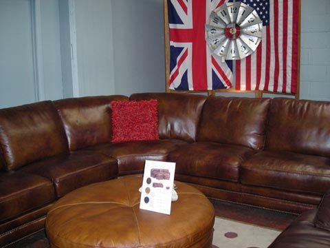 Flexsteel Leather Sectional Sofa Pre Black Friday Floor