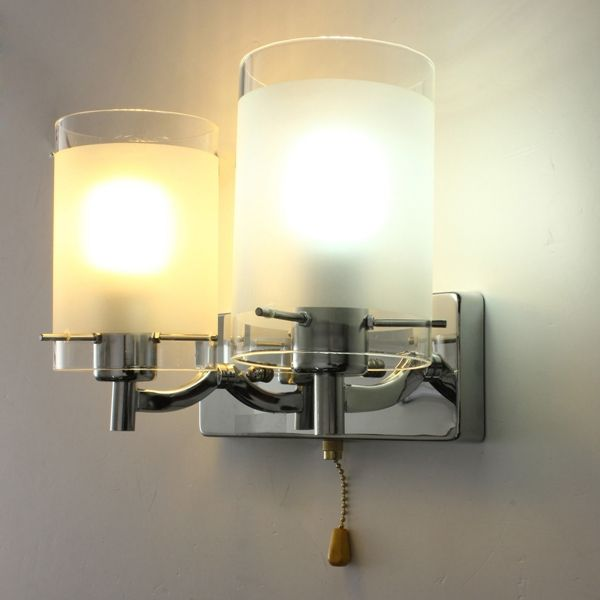 Modern Glass Double Head Walkway Indoor Wall Porch Hall Lamp Sconce ...