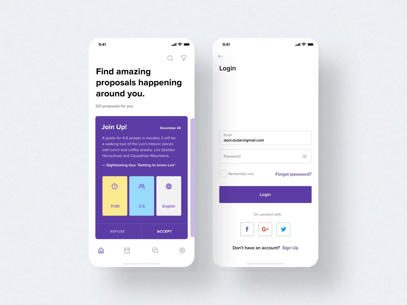 Travel App by Den Dudar in 2020 | Travel app, Sequence ...