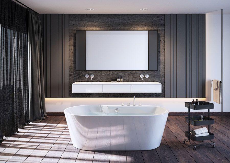 25 idee per arredare un bagno moderno con elementi di design bagni