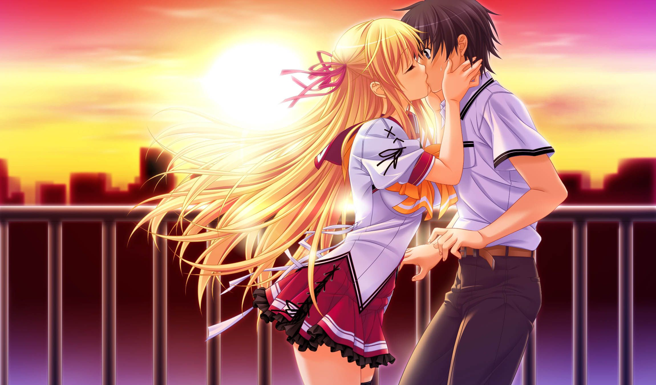 Beautiful anime kisses anime kiss passion love beauty