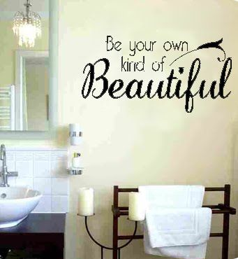 Bathroom wall sayings on pinterest bathroom wall quotes for Bathroom sayings for walls