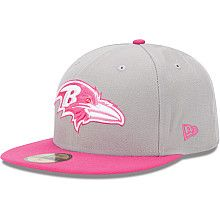 cheap for discount 97134 16104 Men's New Era Baltimore Ravens Breast Cancer Awareness On ...