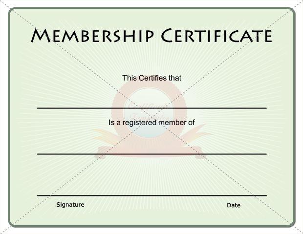Membership Certificate  Membership Certificate Template