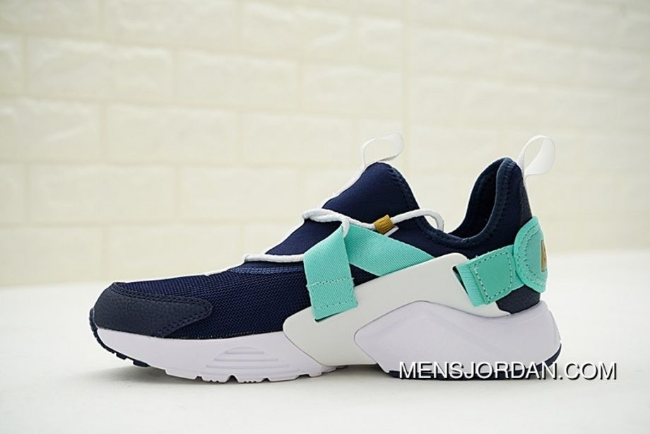 1b627cccb8c785 Nike Air Huarache City Low Version Of 18 City Function All-match Jogging Shoes  Navy Blue Mint Green AH6804-401 Outlet