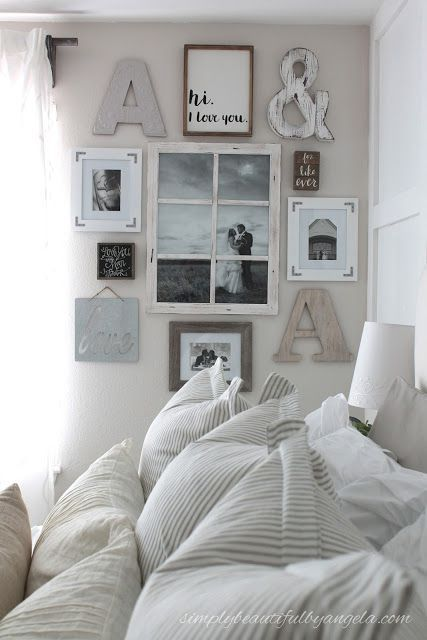 Charming Simply Beautiful By Angela: Farmhouse Master Bedroom Makeover · Cute Wall  DecorLetter ...