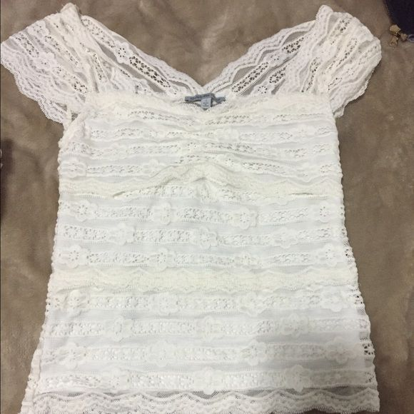 Charlotte Russe Lace Crop Top Size small. Lace crop top. Ivory color. NwoT Charlotte Russe Tops Crop Tops