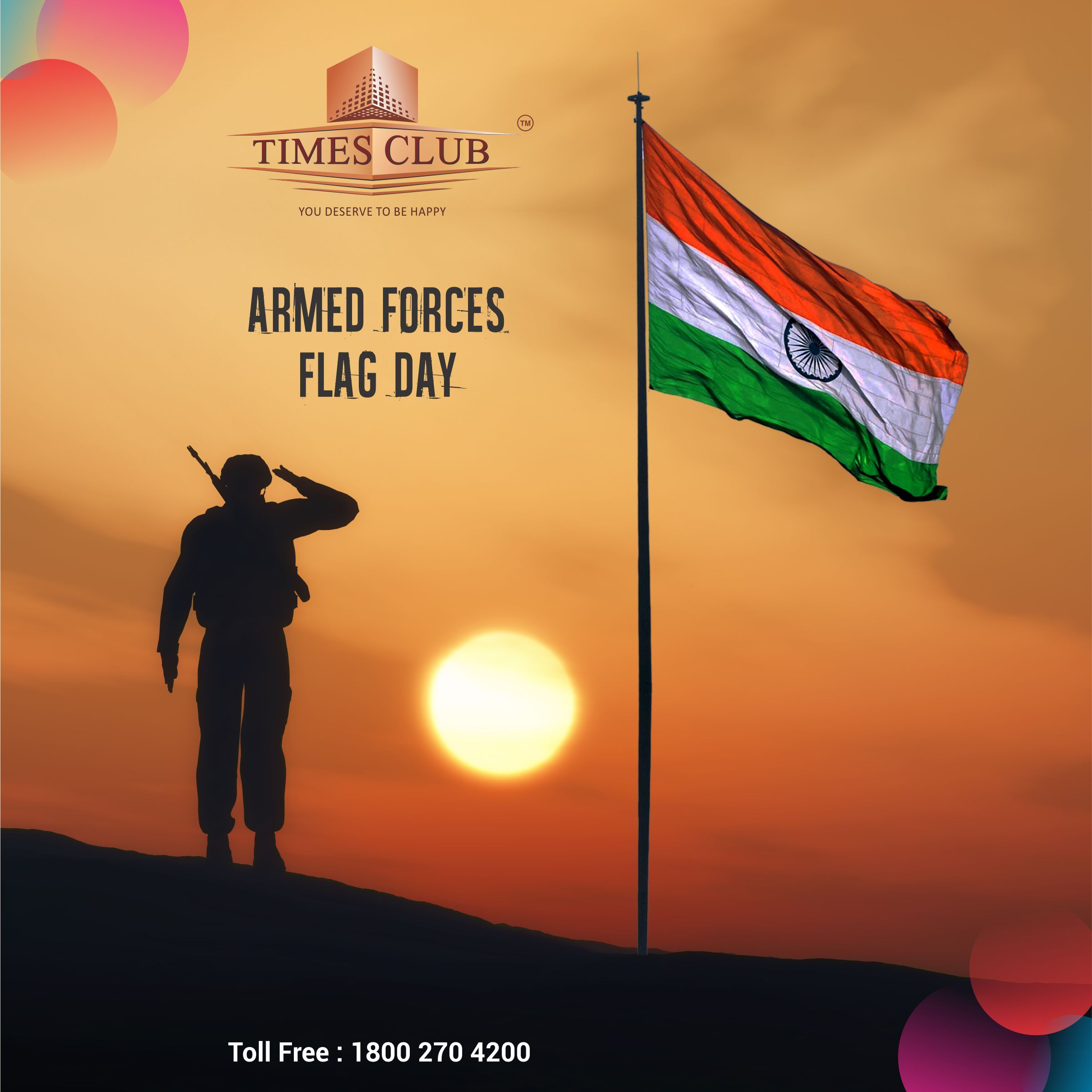 Thank You For Serving Our Country And Protecting Our Freedom Happy Indian Armed Forces Flag Day 2017 Fun Armed Forces Flag Day Flag Day India Armed Forces