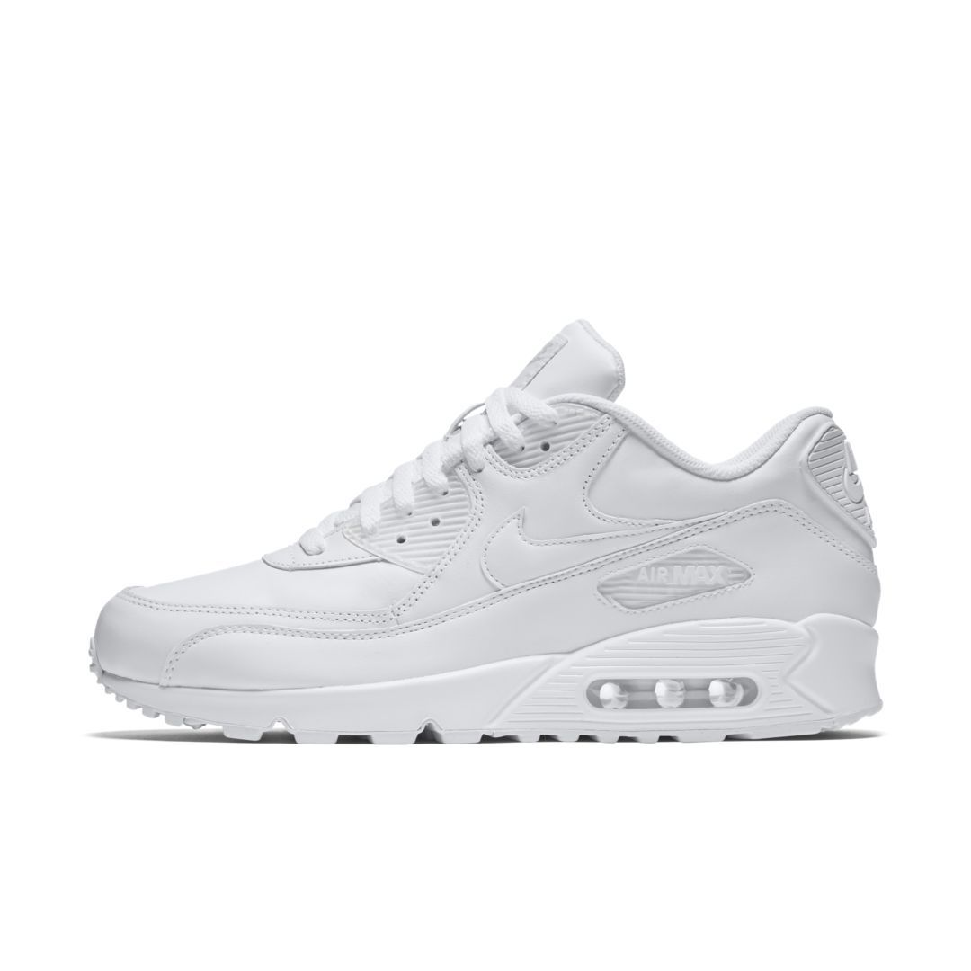 Nike Air Max 90 Leather Mens True White Shoes UK