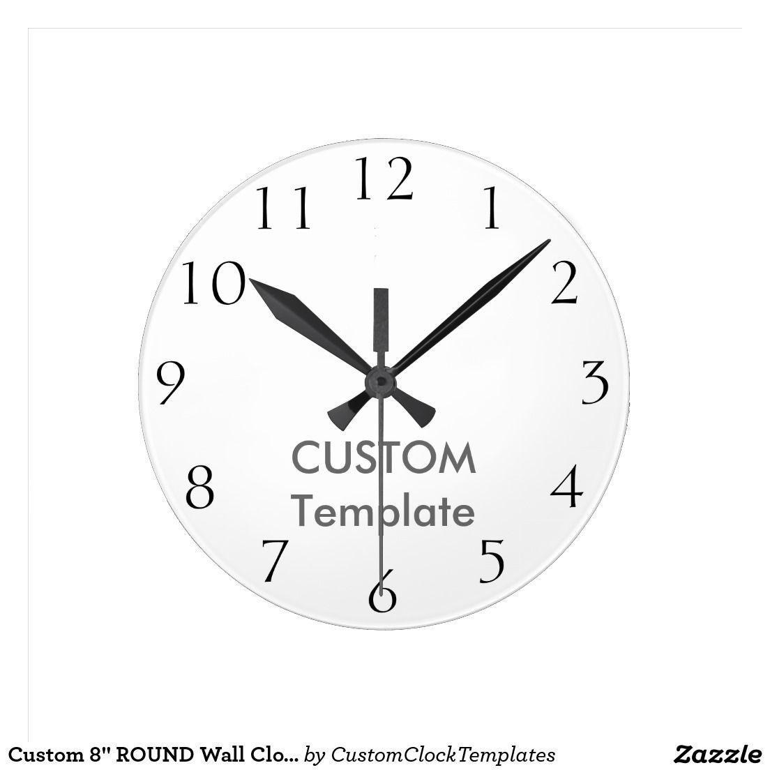 Custom  Round Wall Clock Calhic Press  Custom Clock Templates