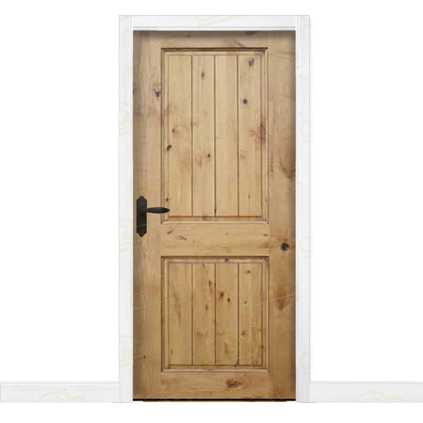 Puerta Interior Rustica En Madera Maciza De Pino Modelo Pm 1097 - Modelos-de-puertas-rusticas
