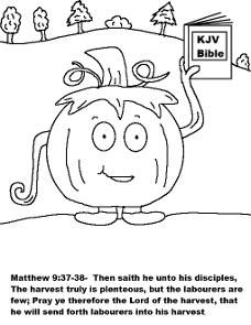 Free Pumpkin Coloring Pages For Sunday School Children\'s Church ...