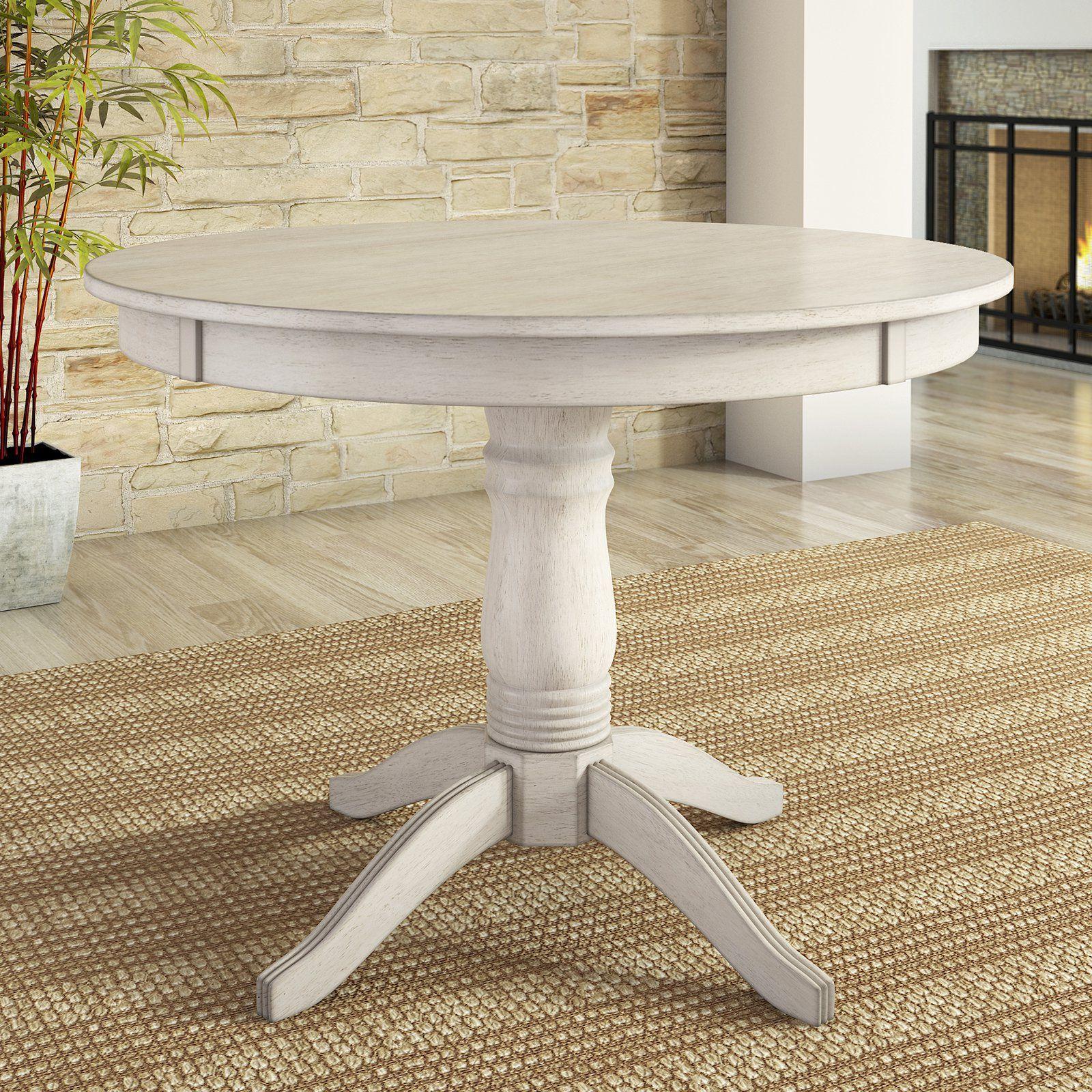 Lexington 42 Round Wood Pedestal Base Dining Table White Walmart Com Round Dining Table Dining Table Round Dining