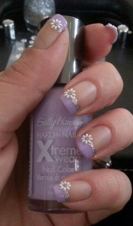 Daisies Easy Easter Nail Designs For Short Nails Cute Spring