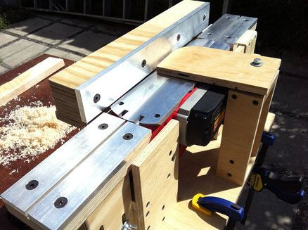 Power Planer To Bench Jointer Conversion Home Made Tools