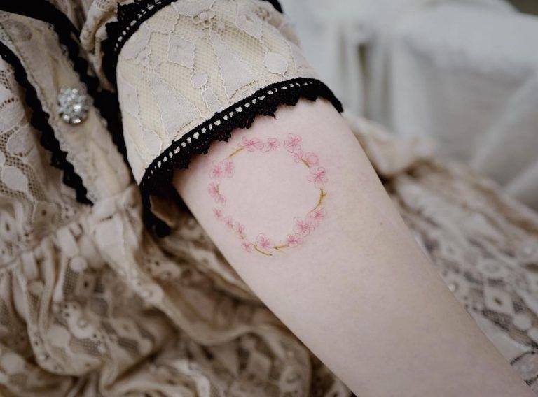 27 charming cherry blossom tattoo examples cherry