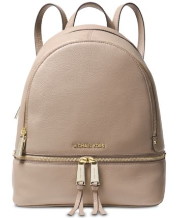 6956e69955f4 Michael Michael Kors Rhea Zip Small Pebble Leather Backpack - Black ...