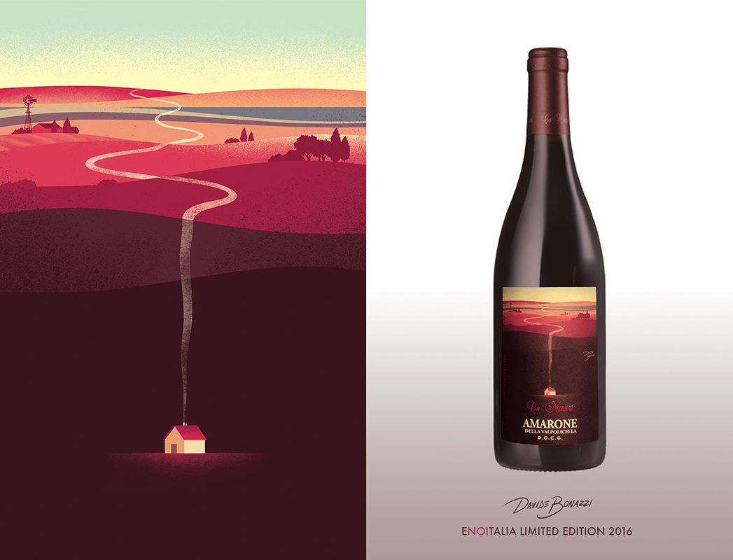 In Context Davide Bonazzi Wine Label Art Wine Label Inspiration Wine