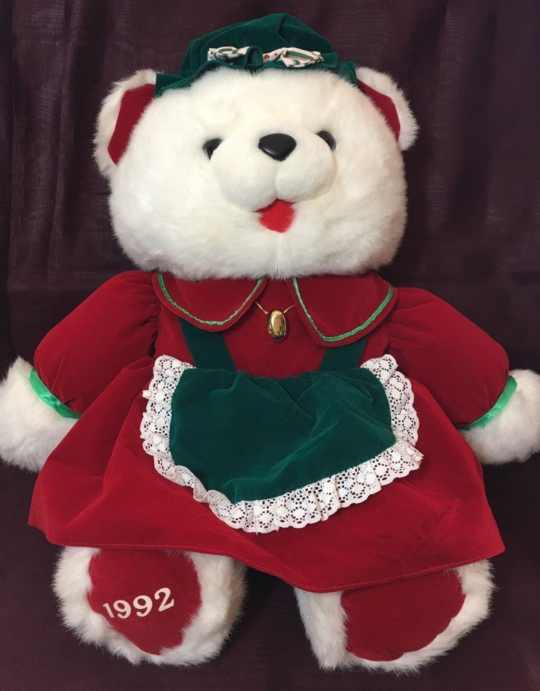 Christmas Kmart Plush Teddy Bear 1992 Vintage 20\