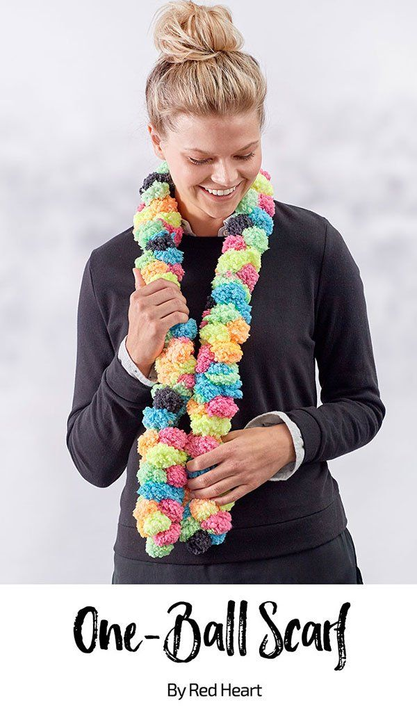 One Ball Scarf Free Knit Pattern In Pomp A Doodle Yarn This Quick