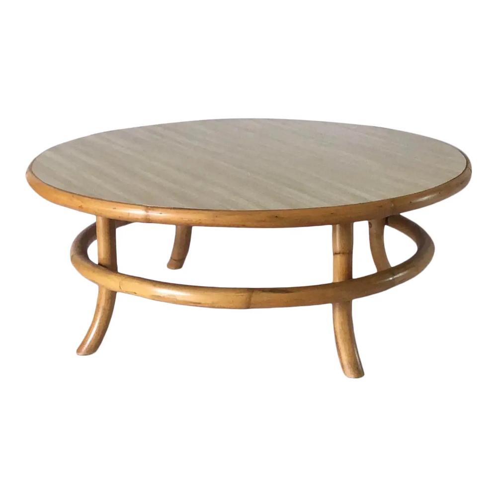 Vintage Mid Century Rattan Bamboo Bentwood Coffee Table In 2020 Coffee Table Table Round Coffee Table [ 1000 x 1000 Pixel ]