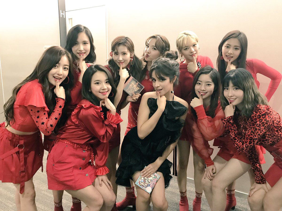 Camila And Twice Today On Music Station 2 02 18 Camila Cabello Kpop Girls Korean Girl Groups