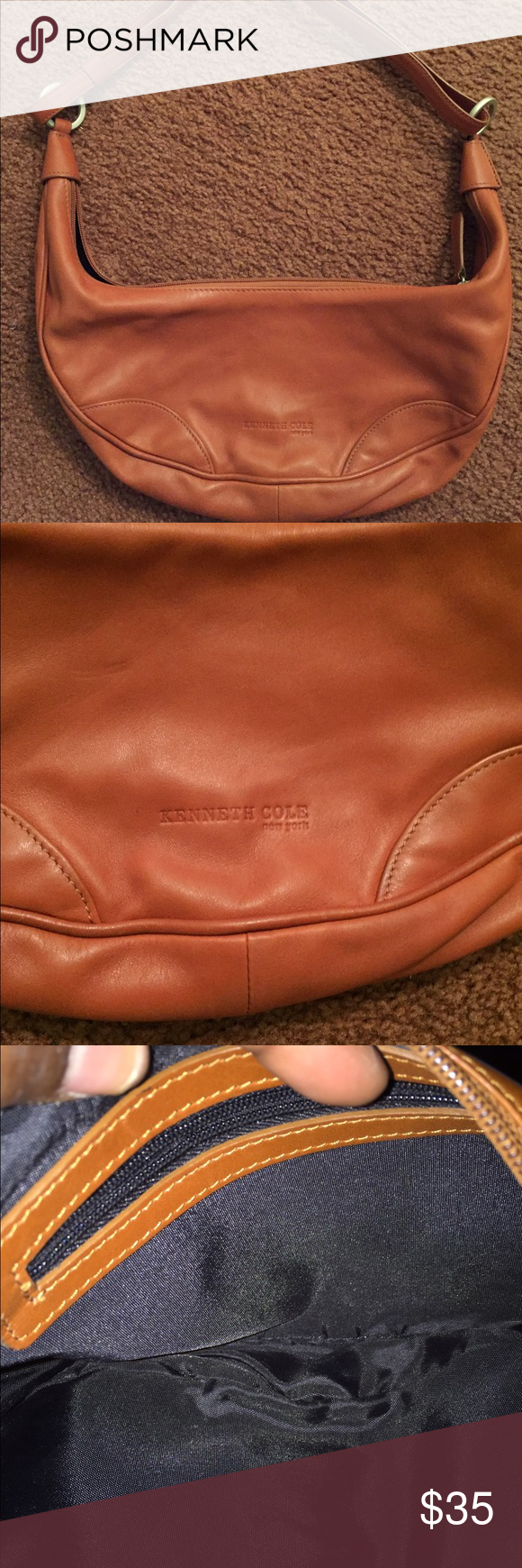 Kenneth Cole Handbag Camel color bag/Good condition Kenneth Cole Bags Mini Bags