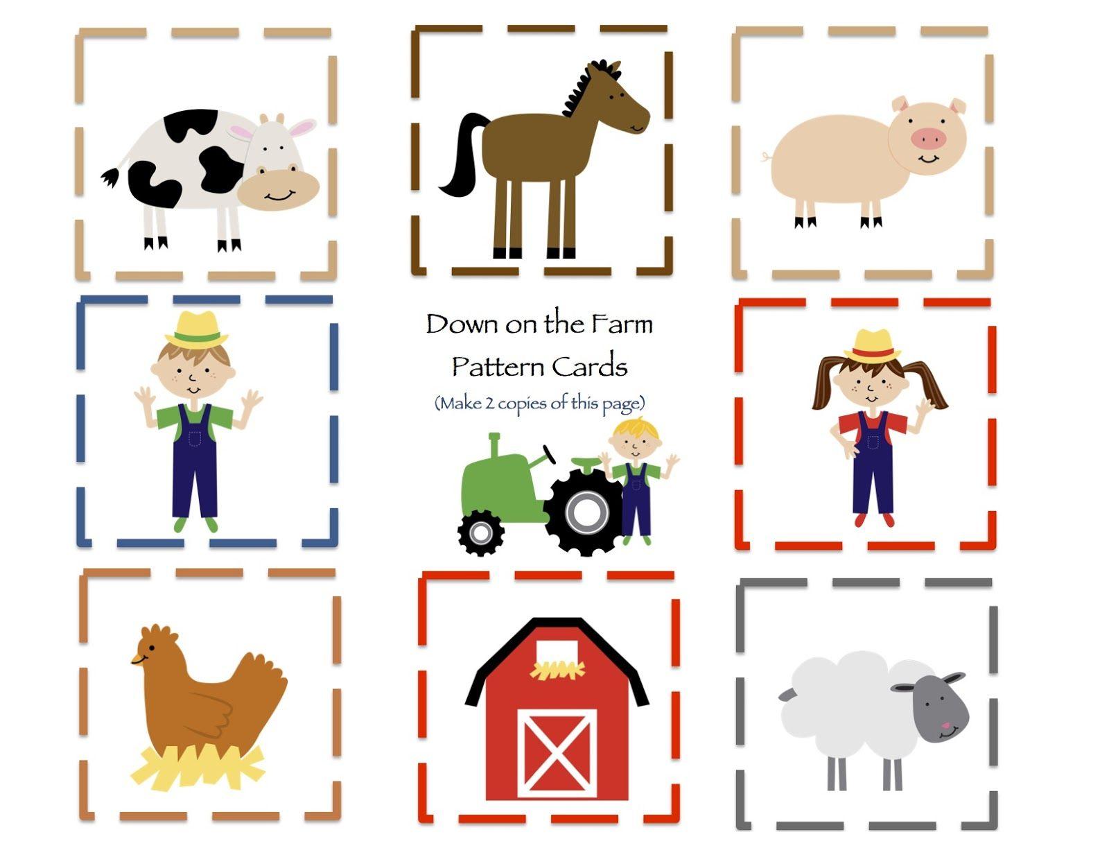 Preschool Printables (With images) | Farm preschool, Farm ...