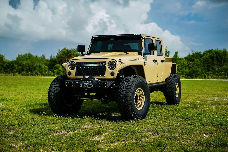 Jeep Truck Jk Crew Conversion Jeep Pickup Truck Jeep Pickup Jeep Truck
