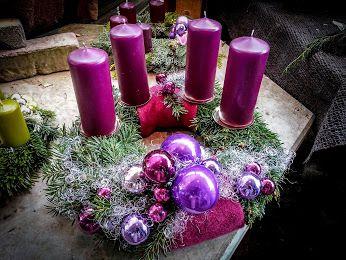 edel barocker adventskranz adventsdeko kerzen violett. Black Bedroom Furniture Sets. Home Design Ideas