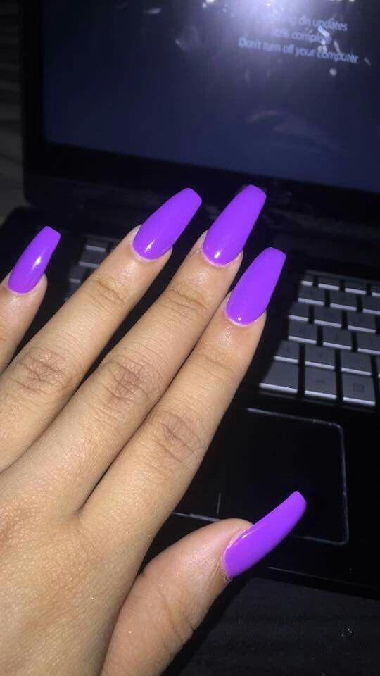 Purple Coffin Nails With Images Purple Acrylic Nails Coffin