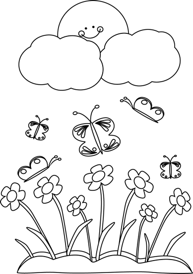 clip art black and white black and white spring sun clip art rh pinterest com spring flowers clip art black and white spring clip art black and white free