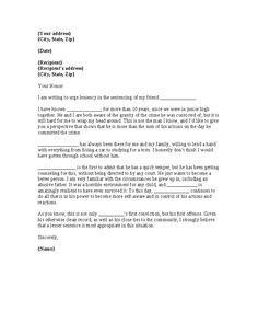 Letters Judges Before Sentencing Sample Character Letter For Court