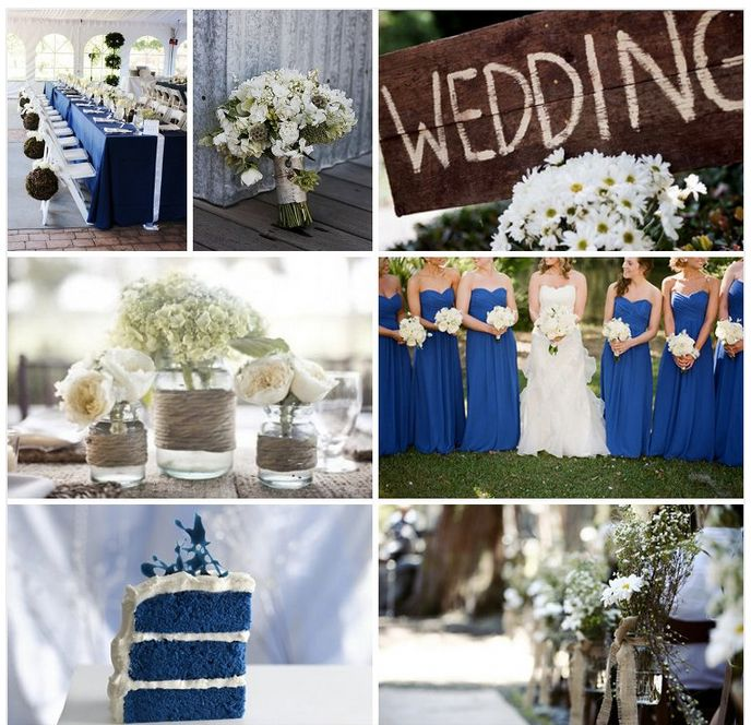 Rustic royal blue wedding Rustic wedding blue Blue country weddings Blue wedding