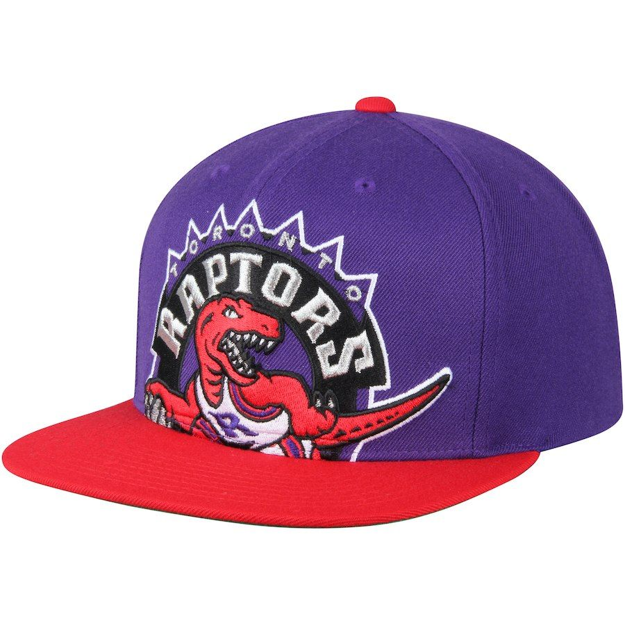 35dfd6fa960 Men s Toronto Raptors Mitchell   Ness Purple Hardwood Classics Cropped XL  Logo Snapback Adjustable Hat
