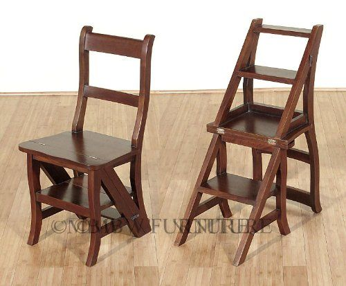 Wooden Step Stool Chair Wood PDF Plans