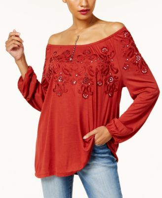 420e7486cae7d Anna Sui Loves INC International Concepts Off-The-Shoulder Peasant ...