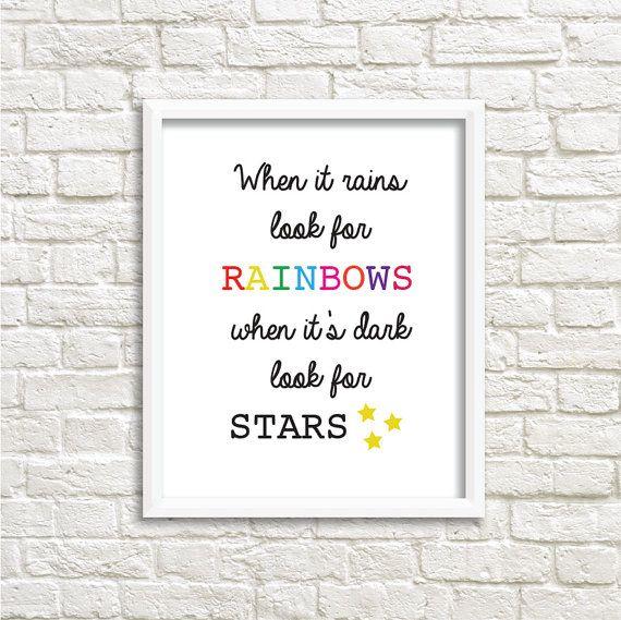 Rainbows and stars prints by LittleLeoPrints on Etsy