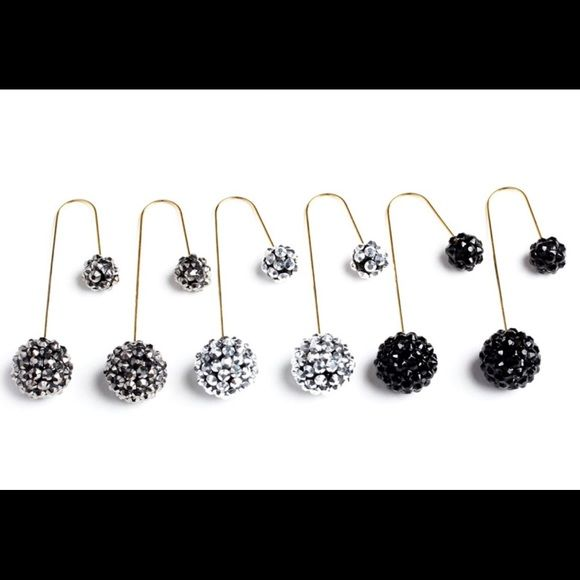 3 Double Sided Drop Earrings Price is Firm 3 Double Sided Drop Earrings Price is Firm Jewelry Earrings