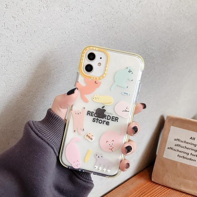 Cute Cat & Unicorn Bumper iPhone Case
