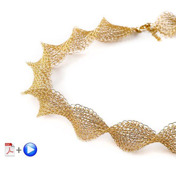 Wire crochet pattern of INFINITY necklace , wire crochet VIDEO ...
